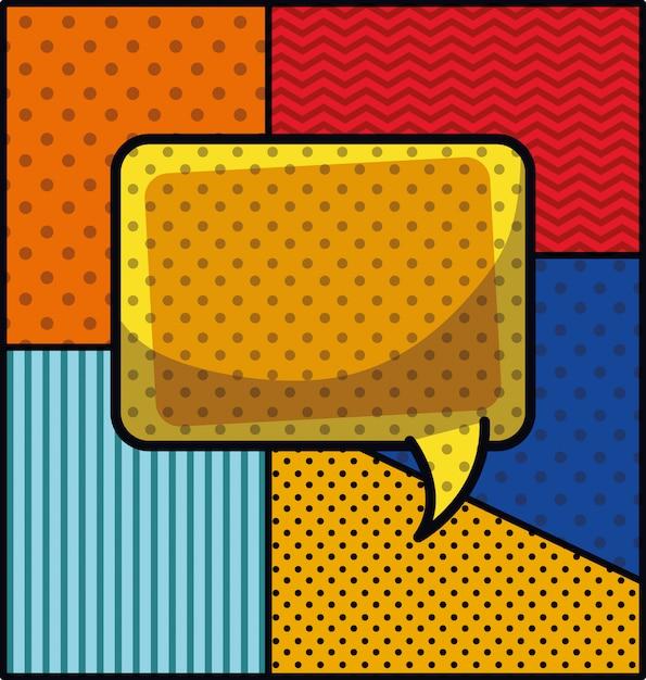 Spracheblasen-pop-art-art-vektorillustration Kostenlosen Vektoren