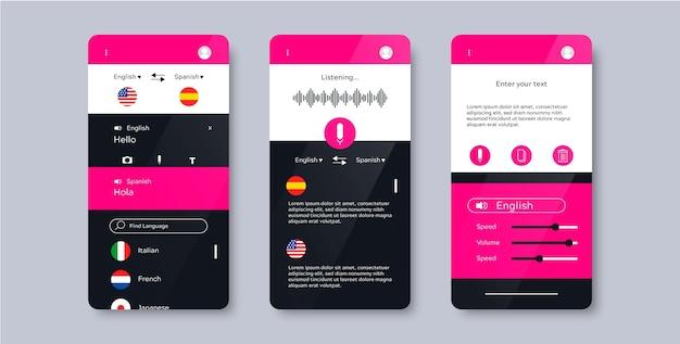 Sprachübersetzer-app-konzept Kostenlosen Vektoren