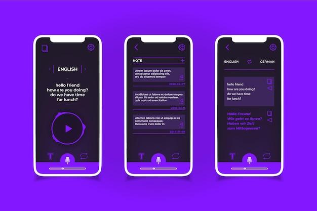Sprachübersetzer-app Kostenlosen Vektoren
