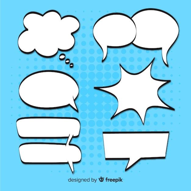 Sprechblasen-sammlung Kostenlosen Vektoren