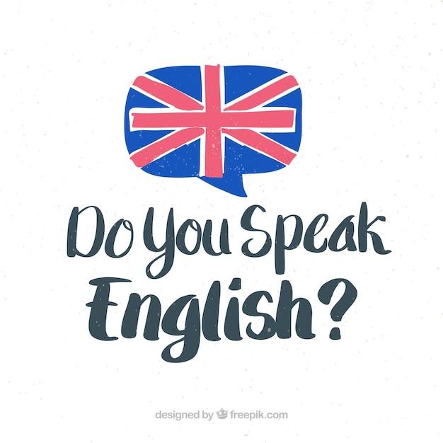 Sprechen sie englisch schriftzug hintergrund Kostenlosen Vektoren