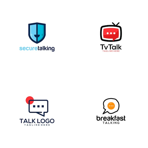 Sprechen sie logo Premium Vektoren