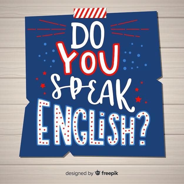 Sprichst du englisch? Kostenlosen Vektoren
