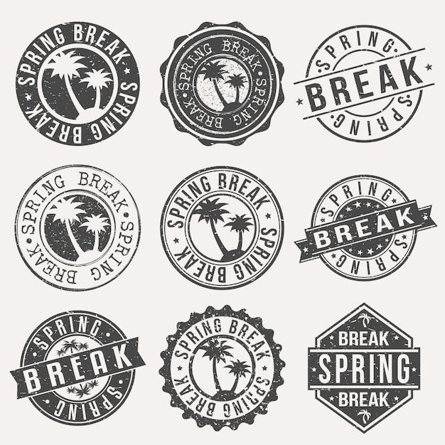 Spring break urlaub. Premium Vektoren