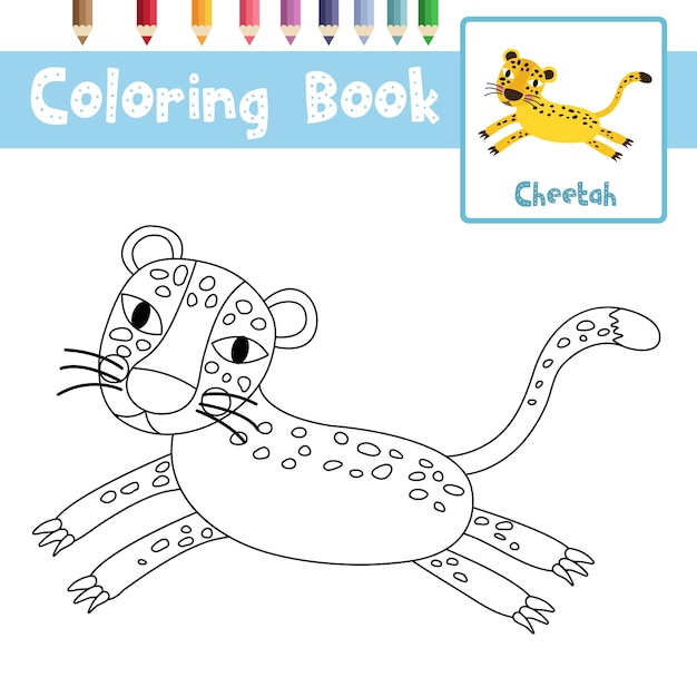 gepard baby malvorlage  coloring and malvorlagan