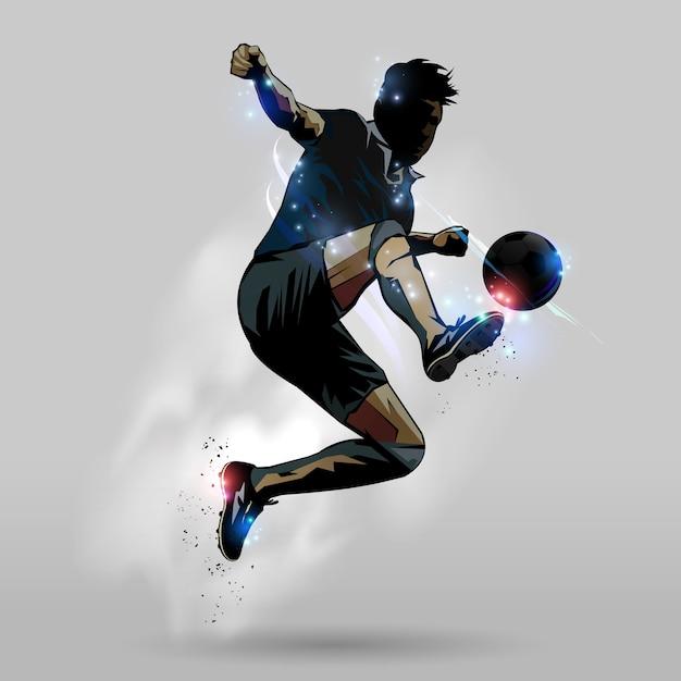 Springender notenball 02 des fußballs Premium Vektoren