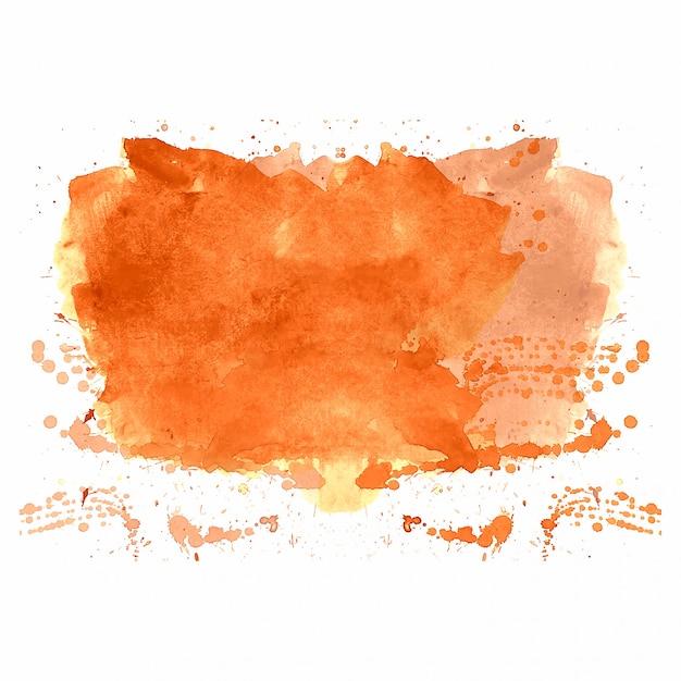 Spritzen-aquarellhintergrund des handabgehobenen betrages orange Kostenlosen Vektoren