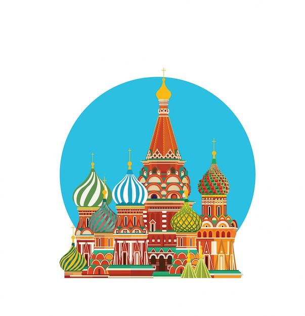 St. basil s kathedrale moskau russland Premium Vektoren