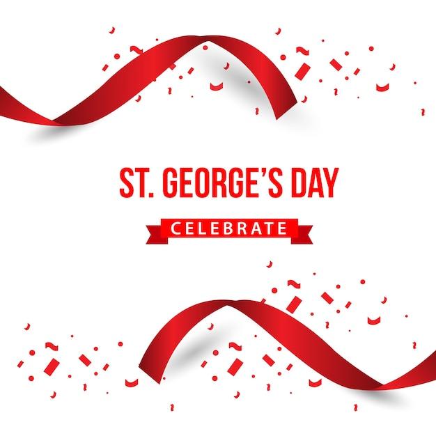 St. george's day feiern vektor-template-design Premium Vektoren