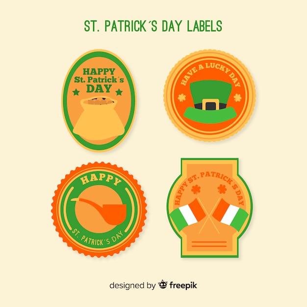 St. patrick's day abzeichen sammlung Kostenlosen Vektoren