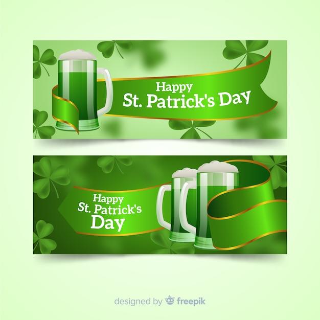St. patrick's day banner Kostenlosen Vektoren