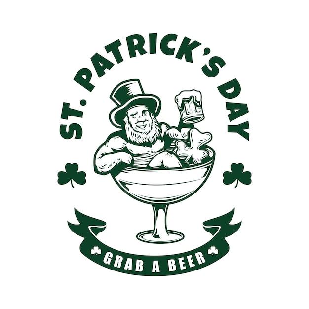 St. patrick's day charakter logo illustration Premium Vektoren