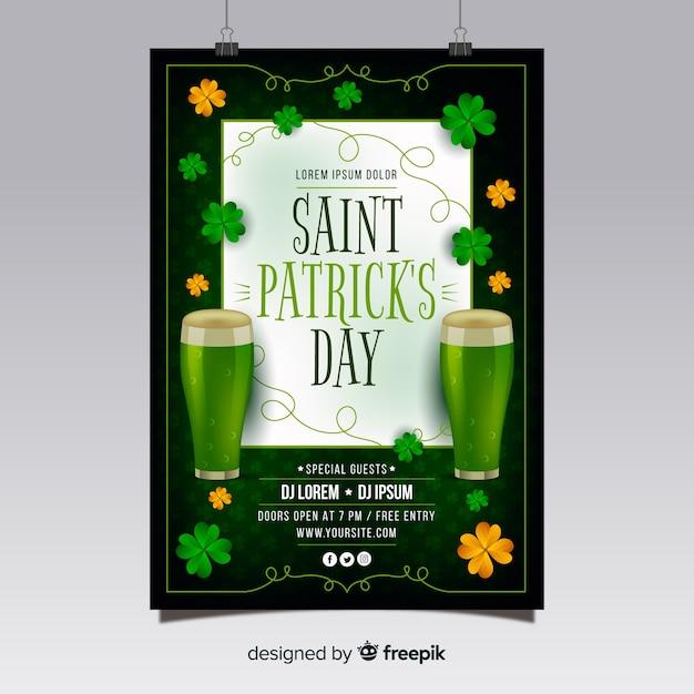 St. patrick's day flyer teplate Kostenlosen Vektoren