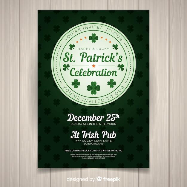 St. patrick's day flyer vorlage Kostenlosen Vektoren
