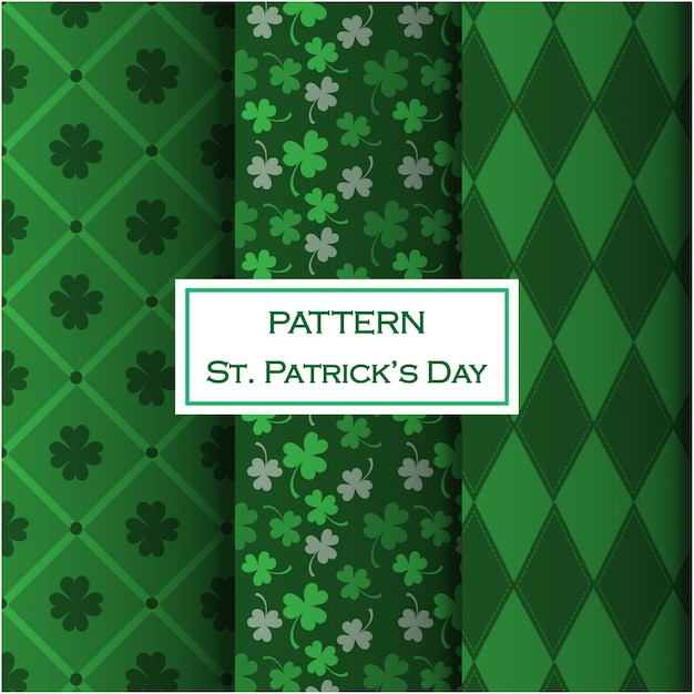 St. patrick's day mustersatz Premium Vektoren