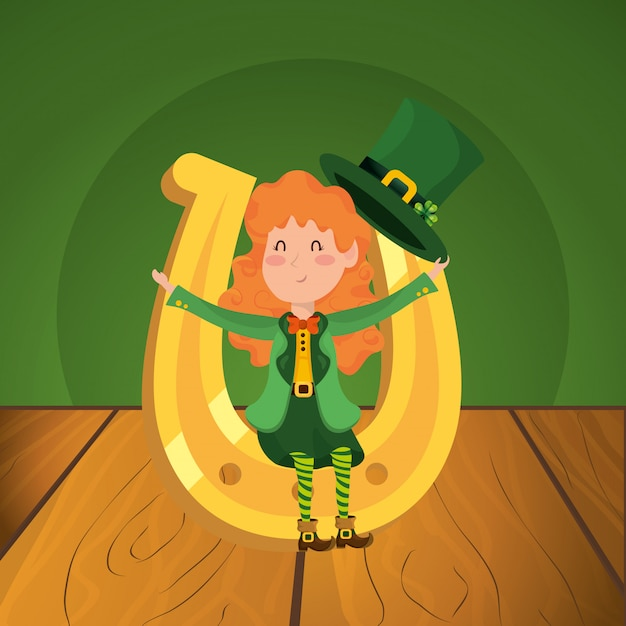 St. patricks day cartoon Premium Vektoren