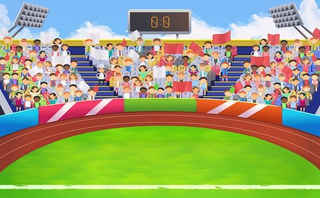 Stadion, sportarena hintergrund Premium Vektoren