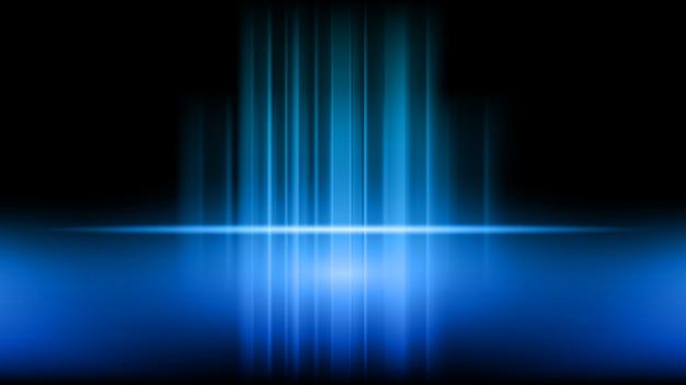Stadium und darstellung des produktes auf blauem hintergrund Premium Vektoren