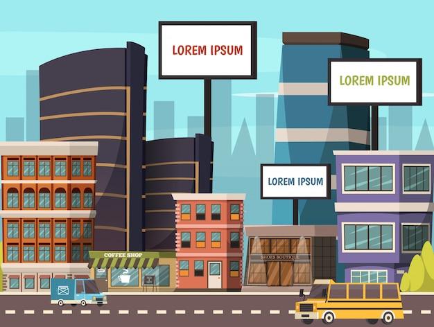 Stadt abbildung Kostenlosen Vektoren