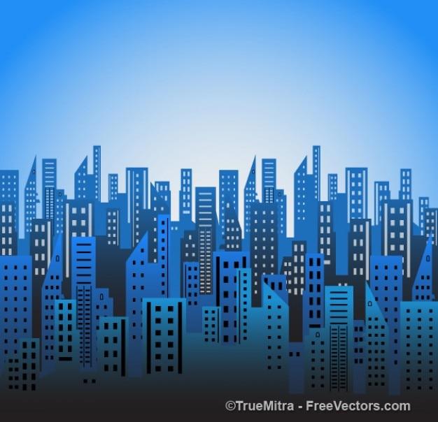 Stadt Blau Skylines Vektor Download Der Kostenlosen Vektor