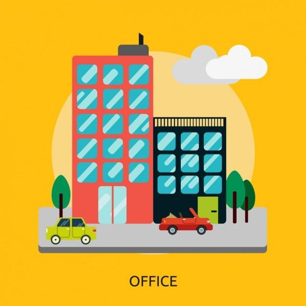 Stadt hintergrund-design Kostenlosen Vektoren