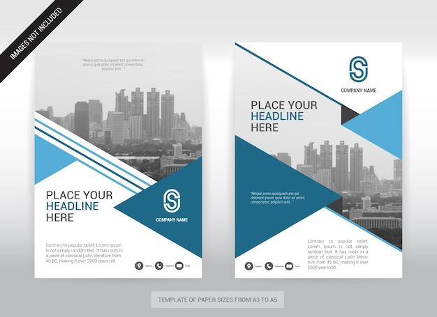 Stadt-hintergrund-geschäfts-abdeckungs-design-schablone. Premium Vektoren
