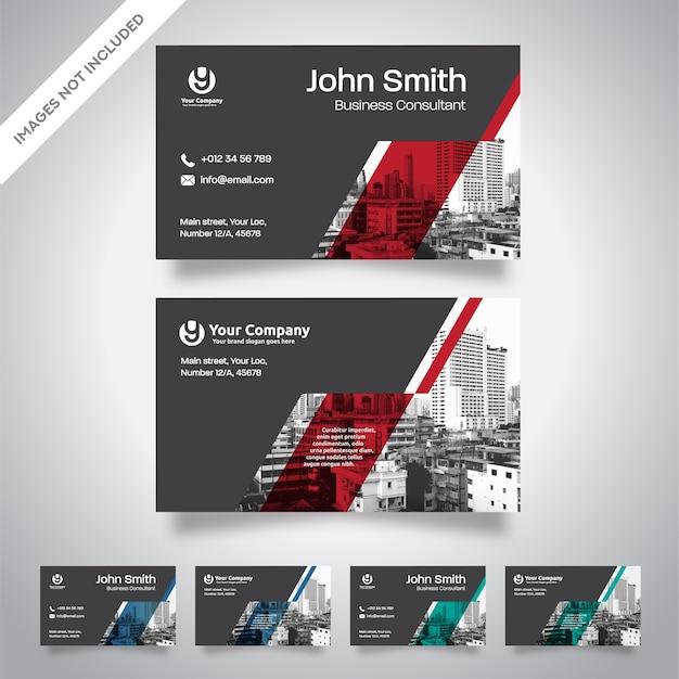 Stadt Hintergrund Visitenkarte Design Vorlage Premium Vektor