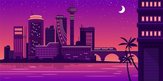 Stadt skyline wahrzeichen illustration Premium Vektoren