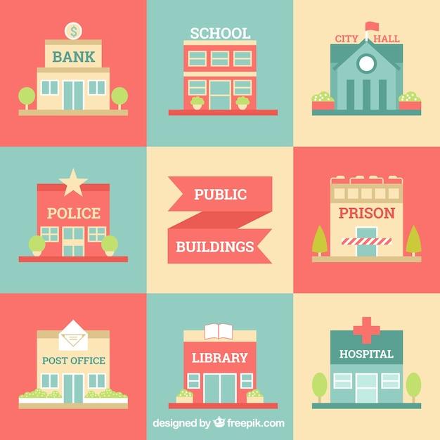 Stadtgebäude chic Kostenlosen Vektoren