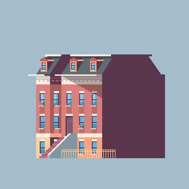 Stadtgebäude haus städtischen immobilien Premium Vektoren