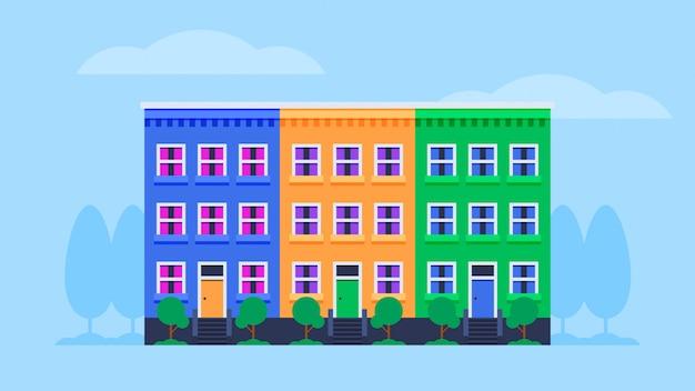 Stadtlandschaftsillustration Premium Vektoren