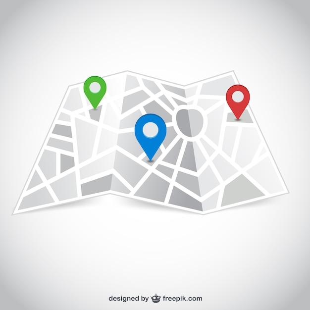 Stadtplan mit zeigern Premium Vektoren