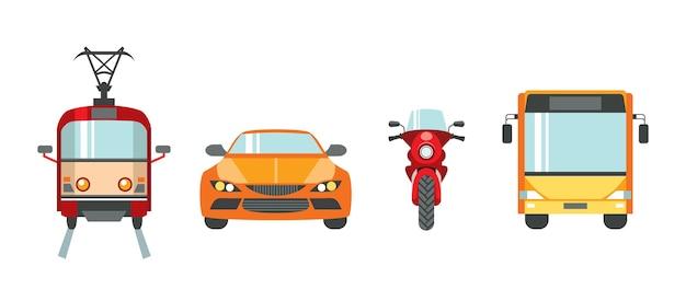 Stadtverkehr eingestellt Premium Vektoren