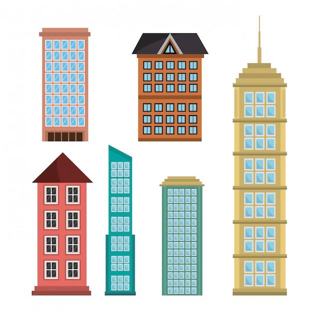 Städtebaugebäude Kostenlosen Vektoren