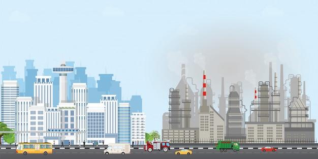 Städtische stadtlandschaft Premium Vektoren