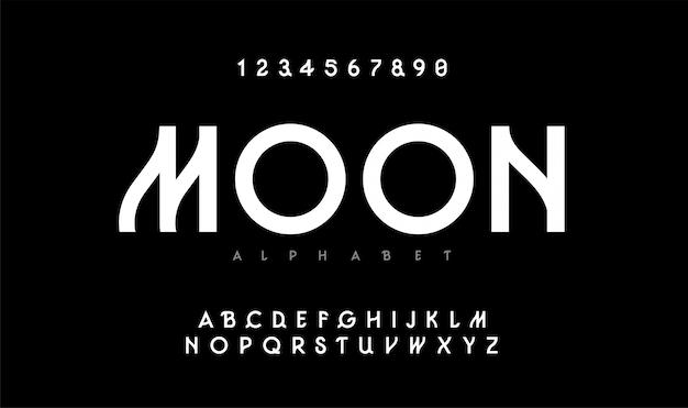Städtisches modernes alphabet. typografie-schrift in großbuchstaben Premium Vektoren