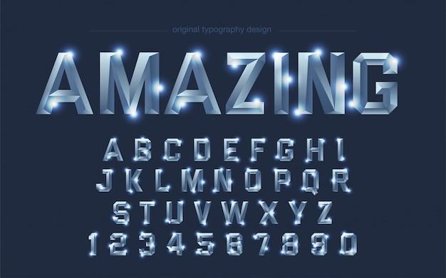Stahl chrom bright square typografie Premium Vektoren