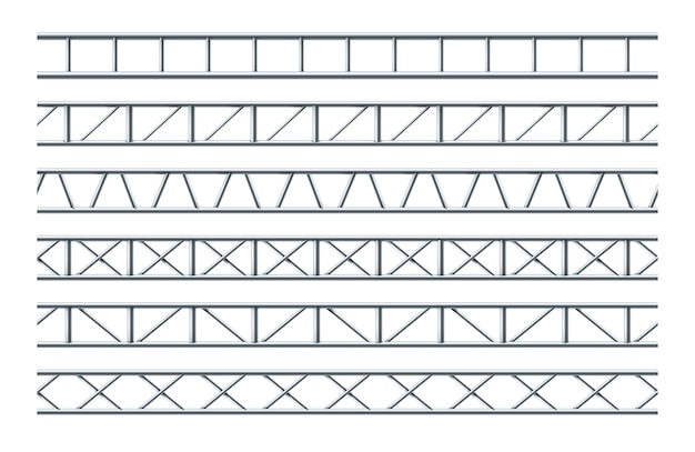 Stahlbinder-träger realistisch nahtlos Premium Vektoren