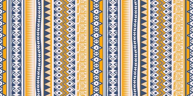 Stammes-ethnischen muster nahtlose streifen symbole Premium Vektoren