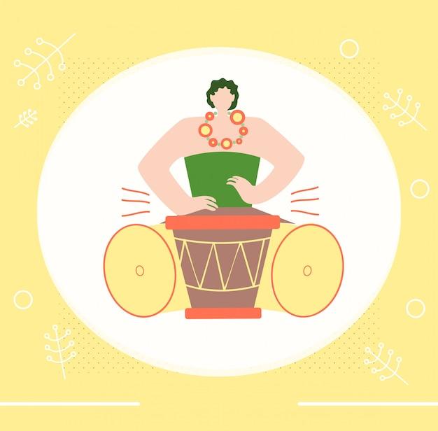 Stammes- musik-leute-farbpromo-einladungs-plakat Premium Vektoren