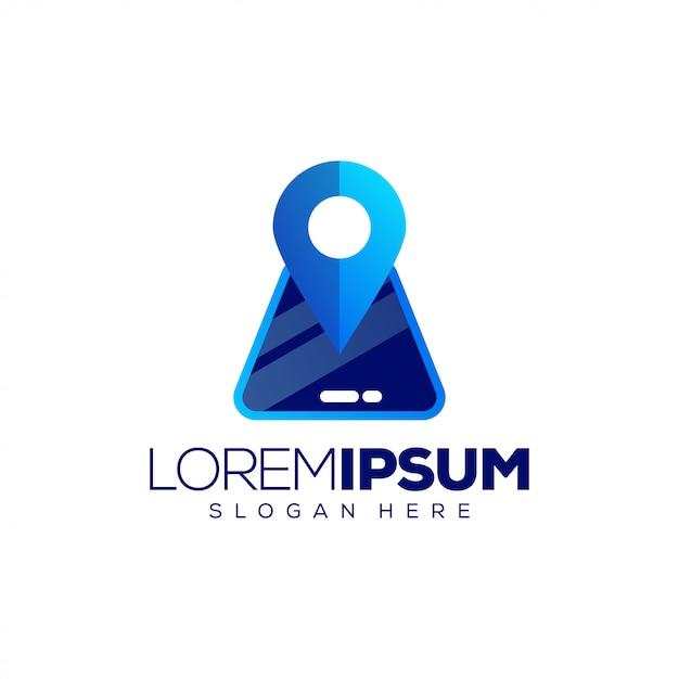 Standort-logo-vorlage Premium Vektoren