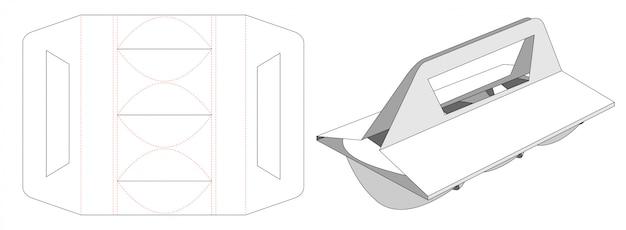 Stanzschablone aus pappbecherhalter Premium Vektoren