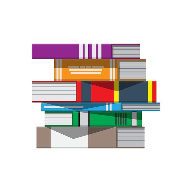 Stapel bücher. leseerziehung, e-book, literatur, enzyklopädie. Premium Vektoren
