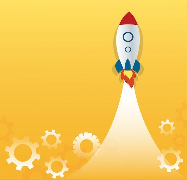 Start-business-konzept Premium Vektoren