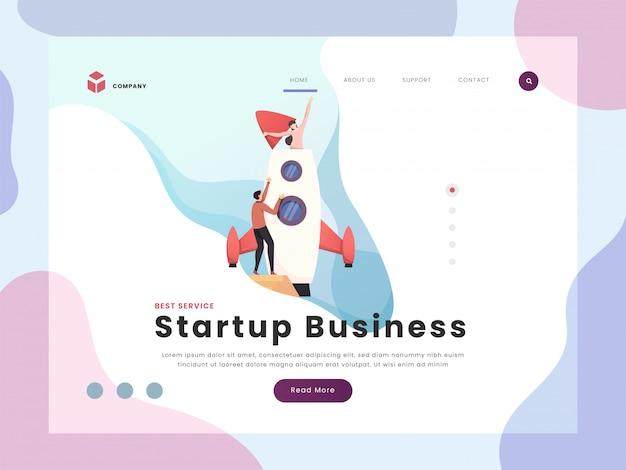 Start-business-landing-page Premium Vektoren
