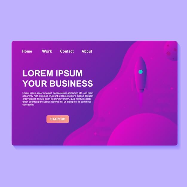Start business-webdesign Premium Vektoren
