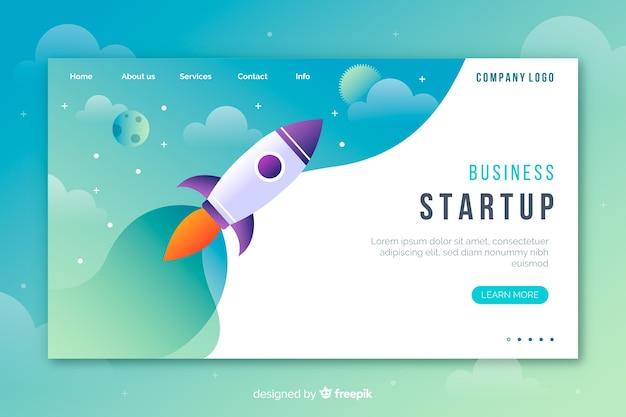 Start-landing-page-konzept Kostenlosen Vektoren