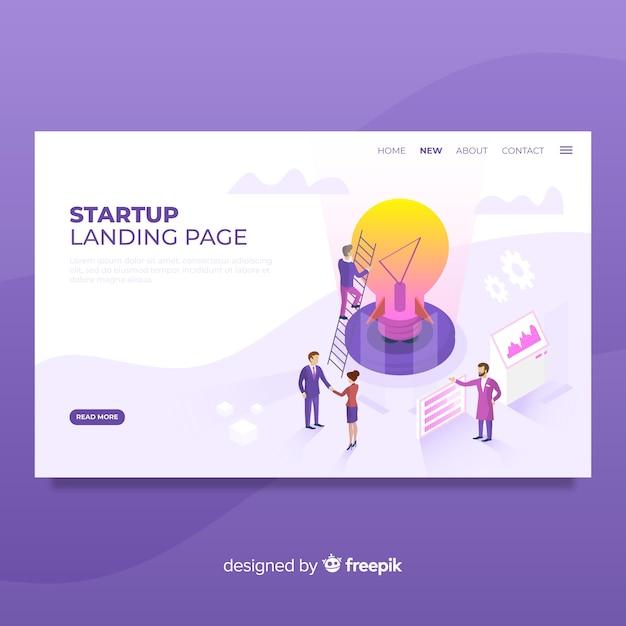 Start-landing-page Kostenlosen Vektoren