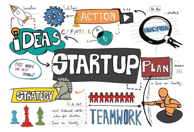 Start-skizze Kostenlosen Vektoren