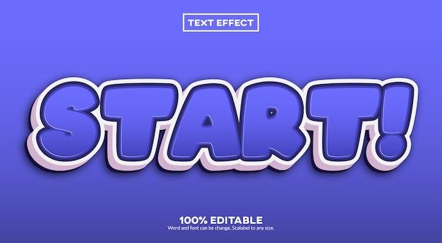 Start! texteffekt Premium Vektoren